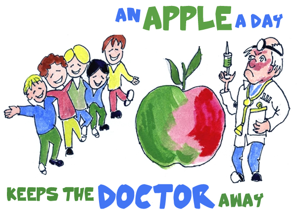 an apple a day there used Apple eaters use fewer medications but are no daily apple not associated with reduced doctor use there may be merit to saying, 'an apple a day keeps the.