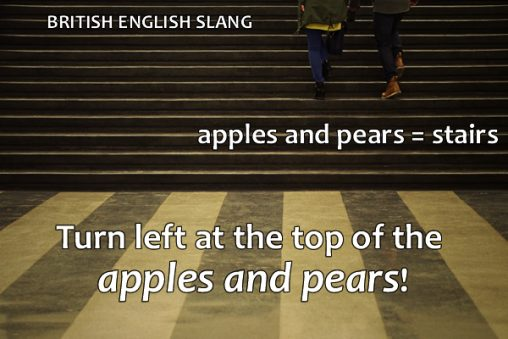 Slang - apples and pears